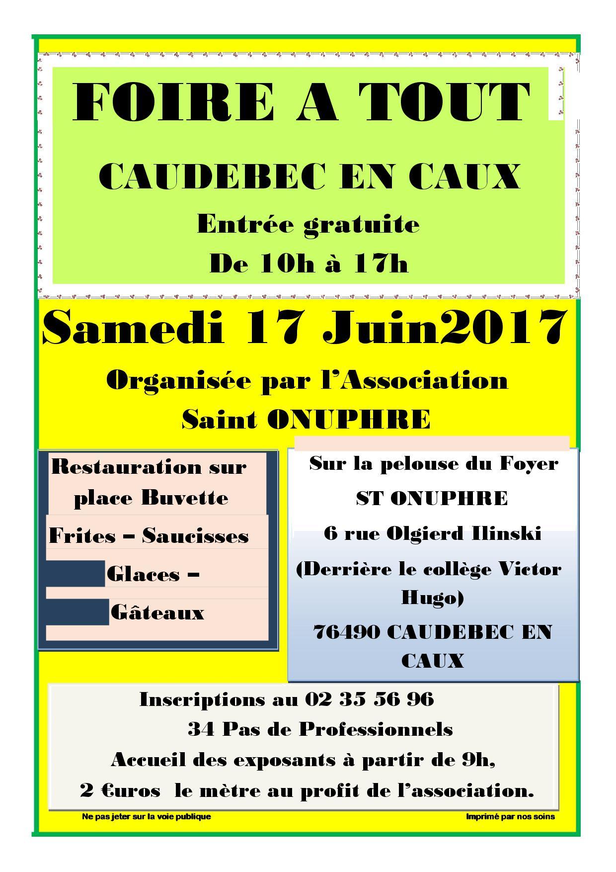 Arcaux de bois himont association de l aide rurale cauchoise - Foire a tout 60 ...